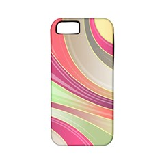 Abstract Colorful Background Wavy Apple Iphone 5 Classic Hardshell Case (pc+silicone)