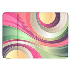 Abstract Colorful Background Wavy Samsung Galaxy Tab 8 9  P7300 Flip Case by Amaryn4rt