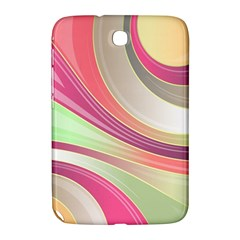 Abstract Colorful Background Wavy Samsung Galaxy Note 8 0 N5100 Hardshell Case  by Amaryn4rt
