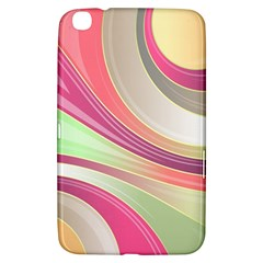 Abstract Colorful Background Wavy Samsung Galaxy Tab 3 (8 ) T3100 Hardshell Case