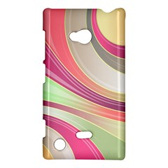 Abstract Colorful Background Wavy Nokia Lumia 720 by Amaryn4rt