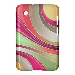 Abstract Colorful Background Wavy Samsung Galaxy Tab 2 (7 ) P3100 Hardshell Case  by Amaryn4rt