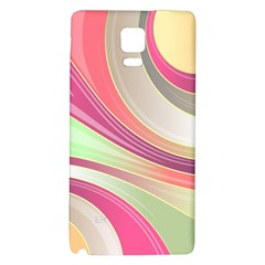 Abstract Colorful Background Wavy Galaxy Note 4 Back Case