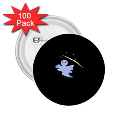 Ghost Night Night Sky Small Sweet 2 25  Buttons (100 Pack)  by Amaryn4rt
