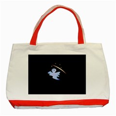 Ghost Night Night Sky Small Sweet Classic Tote Bag (red)