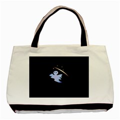 Ghost Night Night Sky Small Sweet Basic Tote Bag (two Sides)