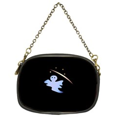 Ghost Night Night Sky Small Sweet Chain Purses (one Side)