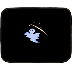 Ghost Night Night Sky Small Sweet Fleece Blanket (mini)