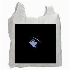 Ghost Night Night Sky Small Sweet Recycle Bag (two Side)