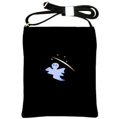 Ghost Night Night Sky Small Sweet Shoulder Sling Bags