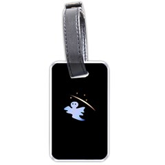 Ghost Night Night Sky Small Sweet Luggage Tags (two Sides) by Amaryn4rt