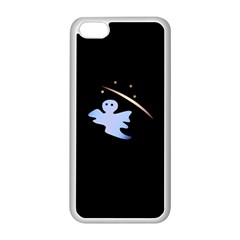 Ghost Night Night Sky Small Sweet Apple Iphone 5c Seamless Case (white) by Amaryn4rt