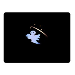 Ghost Night Night Sky Small Sweet Double Sided Fleece Blanket (small)  by Amaryn4rt