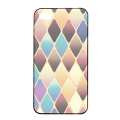 Abstract Colorful Background Tile Apple Iphone 4/4s Seamless Case (black)