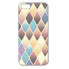 Abstract Colorful Background Tile Apple Seamless Iphone 5 Case (clear)