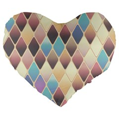 Abstract Colorful Background Tile Large 19  Premium Heart Shape Cushions by Amaryn4rt