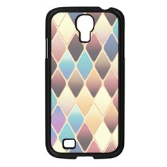 Abstract Colorful Background Tile Samsung Galaxy S4 I9500/ I9505 Case (black)