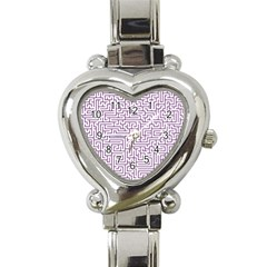 Maze Lost Confusing Puzzle Heart Italian Charm Watch