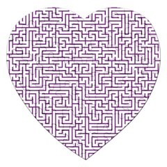 Maze Lost Confusing Puzzle Jigsaw Puzzle (heart) by Amaryn4rt