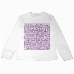 Maze Lost Confusing Puzzle Kids Long Sleeve T Shirts