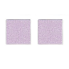 Maze Lost Confusing Puzzle Cufflinks (square)