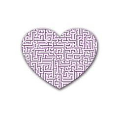 Maze Lost Confusing Puzzle Heart Coaster (4 Pack)