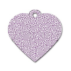 Maze Lost Confusing Puzzle Dog Tag Heart (one Side)