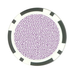 Maze Lost Confusing Puzzle Poker Chip Card Guards