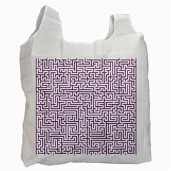Maze Lost Confusing Puzzle Recycle Bag (one Side)
