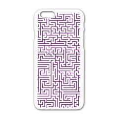 Maze Lost Confusing Puzzle Apple Iphone 6/6s White Enamel Case