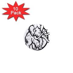 Mammoth Elephant Strong 1  Mini Magnet (10 Pack)