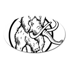 Mammoth Elephant Strong Oval Magnet