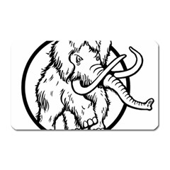 Mammoth Elephant Strong Magnet (rectangular)