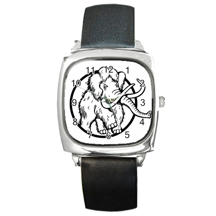 Mammoth Elephant Strong Square Metal Watch