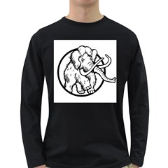 Mammoth Elephant Strong Long Sleeve Dark T Shirts