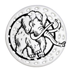 Mammoth Elephant Strong Ornament (round Filigree)  by Amaryn4rt