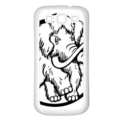 Mammoth Elephant Strong Samsung Galaxy S3 Back Case (white)