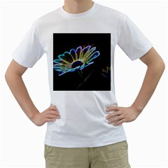 Flower Pattern Design Abstract Background Men s T Shirt (white) (two Sided)