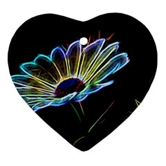 Flower Pattern Design Abstract Background Heart Ornament (2 Sides)