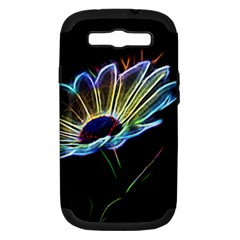 Flower Pattern Design Abstract Background Samsung Galaxy S Iii Hardshell Case (pc+silicone)