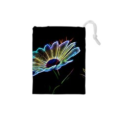 Flower Pattern Design Abstract Background Drawstring Pouches (small)  by Amaryn4rt