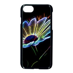 Flower Pattern Design Abstract Background Apple iPhone 7 Seamless Case (Black) by Amaryn4rt