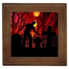 Horror Zombie Ghosts Creepy Framed Tiles