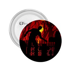 Horror Zombie Ghosts Creepy 2 25  Buttons by Amaryn4rt