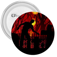 Horror Zombie Ghosts Creepy 3  Buttons
