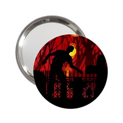 Horror Zombie Ghosts Creepy 2 25  Handbag Mirrors by Amaryn4rt