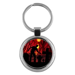 Horror Zombie Ghosts Creepy Key Chains (round)  by Amaryn4rt