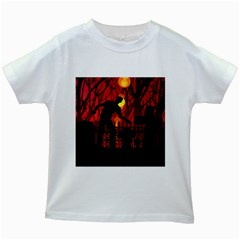 Horror Zombie Ghosts Creepy Kids White T Shirts
