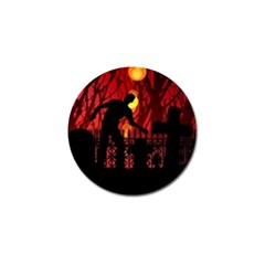 Horror Zombie Ghosts Creepy Golf Ball Marker by Amaryn4rt