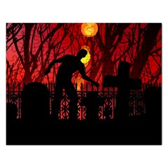 Horror Zombie Ghosts Creepy Rectangular Jigsaw Puzzl by Amaryn4rt